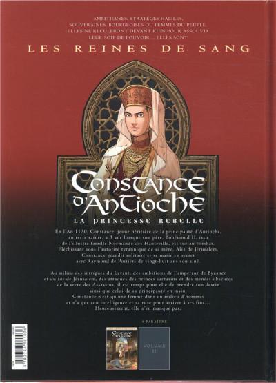 Dos Les reines de sang - Constance d'Antioche tome 1