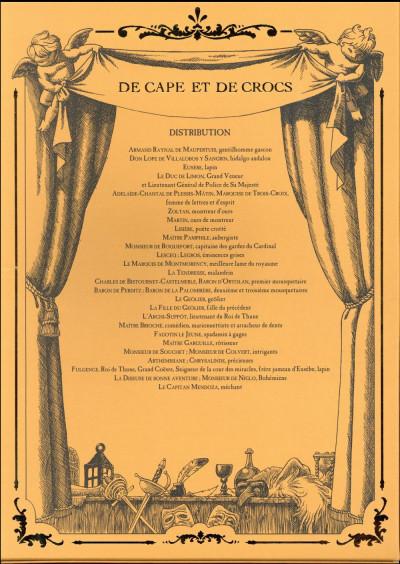 Dos De cape et de crocs - coffret tome 12 + cale