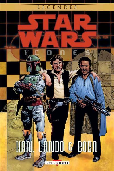 Couverture Star wars - Icônes tome 5 - Han, Lando & Boba