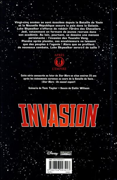 Dos Star Wars - invasion - intégrale
