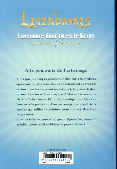 Dos Les Légendaires - L'aventure dont tu es le héros - À la poursuite de l'Artismage