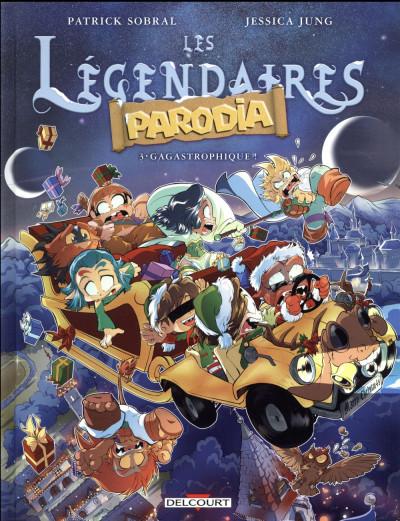 Couverture Les légendaires - parodia tome 3