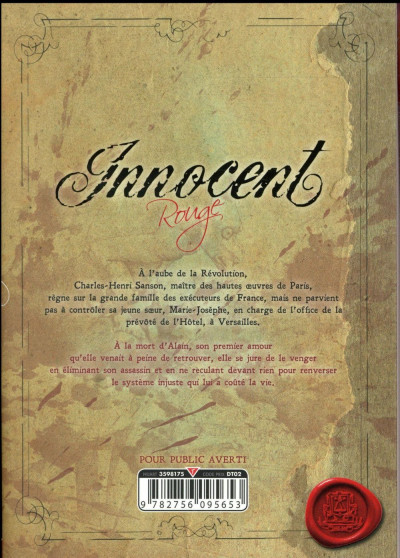 Dos Innocent - Rouge tome 1