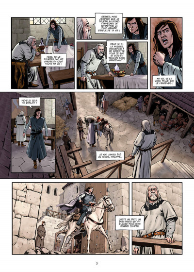 Page 5 La croix sanglante tome 1 + ex-libris offert