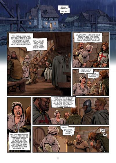 Page 8 La croix sanglante tome 1 + ex-libris offert