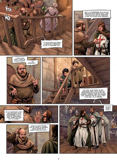 Page 9 La croix sanglante tome 1 + ex-libris offert