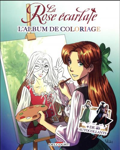 Couverture La rose écarlate - album de coloriage