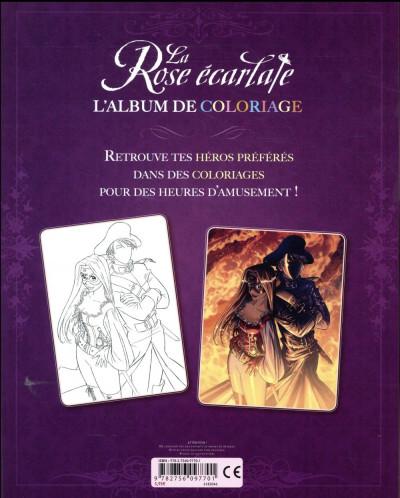 Dos La rose écarlate - album de coloriage