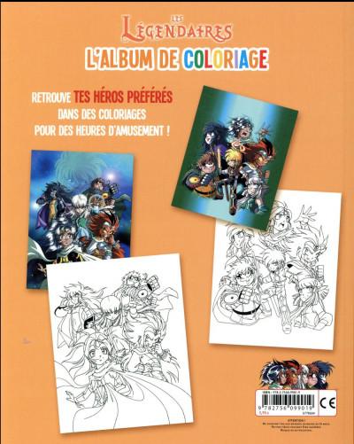 Dos les Légendaires - l'album de coloriage tome 2