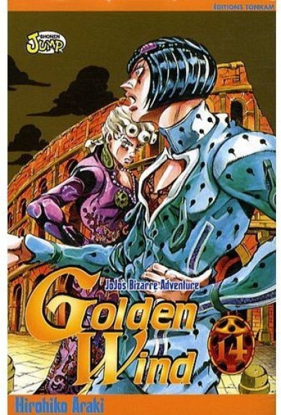 Couverture golden wind - jojo's bizarre adventure tome 14