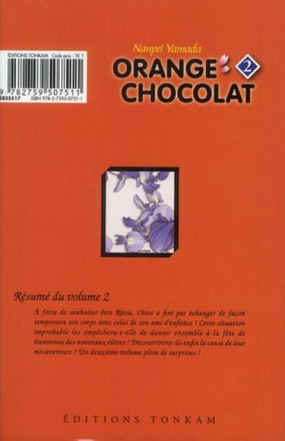 Dos orange chocolat tome 2