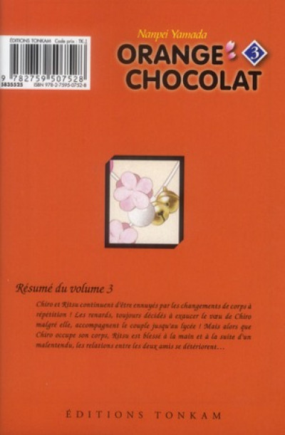Dos orange chocolat tome 3