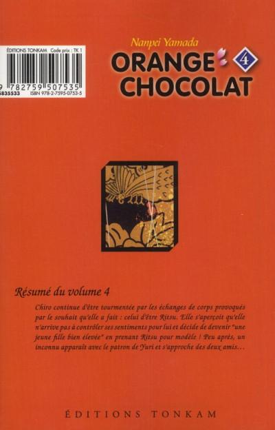 Dos orange chocolat tome 4
