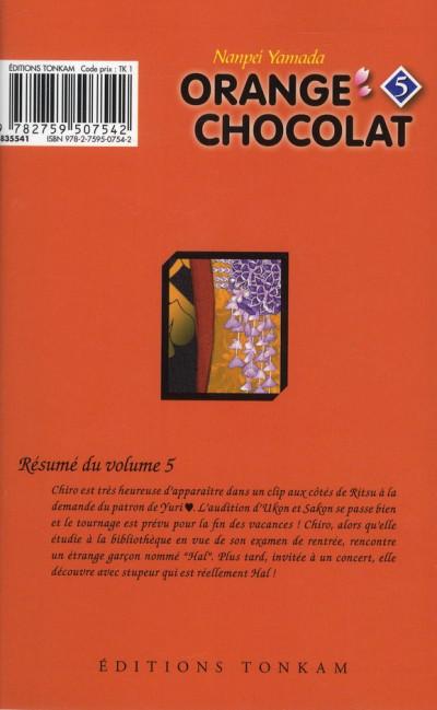 Couverture orange chocolat tome 5