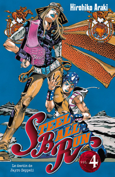 Couverture jojo's bizarre adventure - steel ball run tome 4