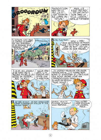 Page 4 spirou et fantasio tome 6 - la corne de rhinocéros