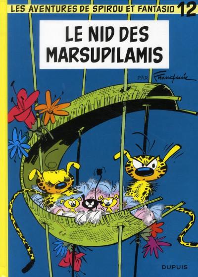 Couverture spirou et fantasio tome 12 - le nid des marsupilamis