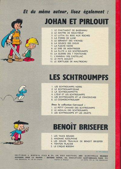 Dos Benoît Brisefer tome 5 - le cirque bodoni