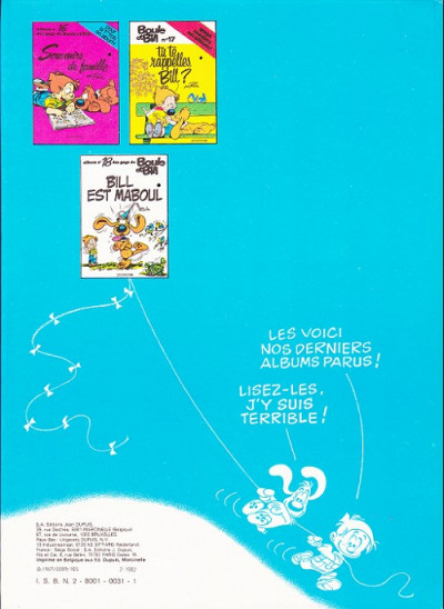Dos Boule et Bill tome 2 - 60 gags