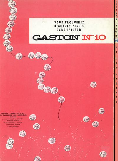 Dos Gaston Lagaffe tome 9 - le cas lagaffe