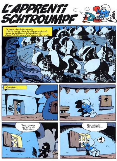 Page 1 les schtroumpfs tome 7 - l'apprenti schtroumpf