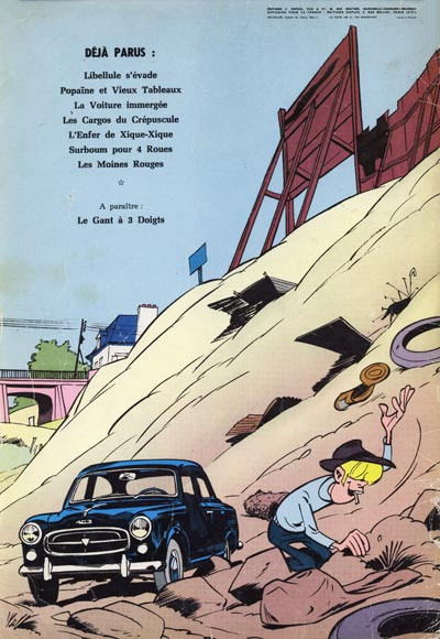 Dos Gil Jourdan tome 8 - Les 3 taches (éd. 1965)