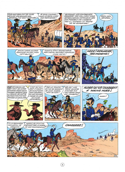 Page 4 les tuniques bleues tome 4 - outlaw