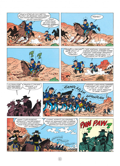 Page 6 les tuniques bleues tome 4 - outlaw