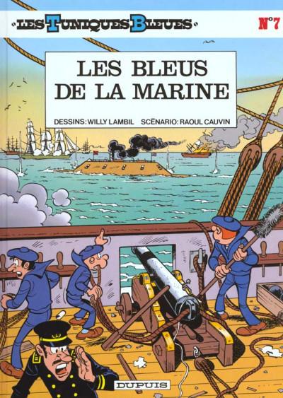 Couverture les tuniques bleues tome 7 - les bleus de la marine