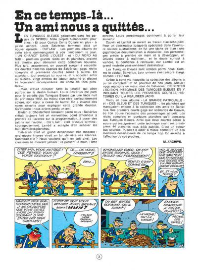 Page 3 les tuniques bleues tome 9 - la grande patrouille