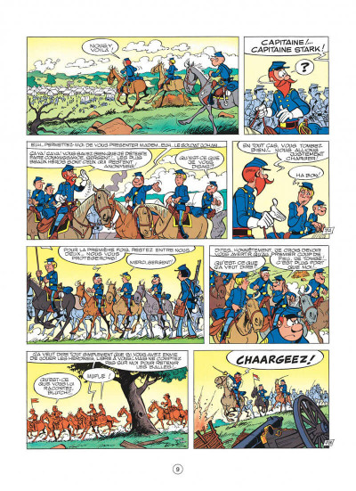 Page 9 les tuniques bleues tome 13 - les bleus dans la gadoue