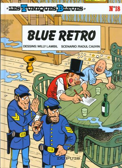 Couverture les tuniques bleues tome 18 - blue retro