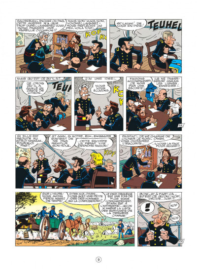 Page 9 les tuniques bleues tome 20 - black face