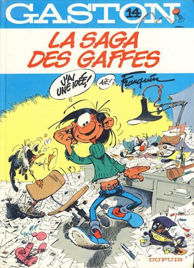 Couverture Gaston Lagaffe tome 14 - la saga des gaffes