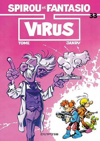 Couverture spirou et fantasio tome 33 - virus