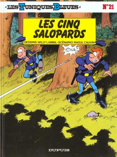 Couverture les tuniques bleues tome 21 - les cinq salopards