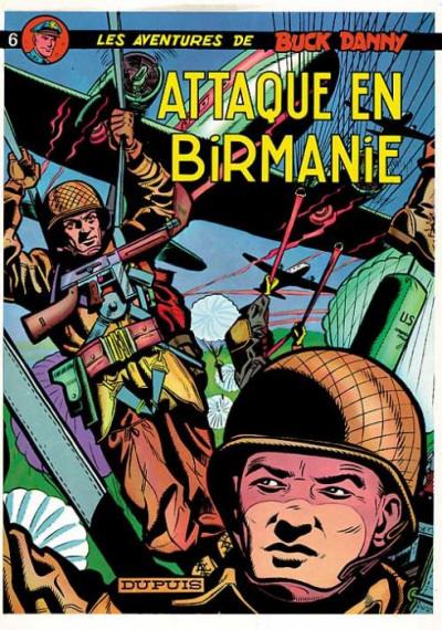 Couverture buck danny tome 6 - attaque en birmanie