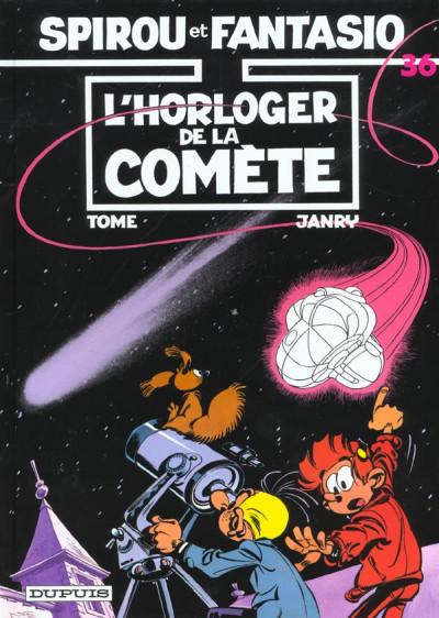 Couverture spirou et fantasio tome 36 - l'horloger de la comète