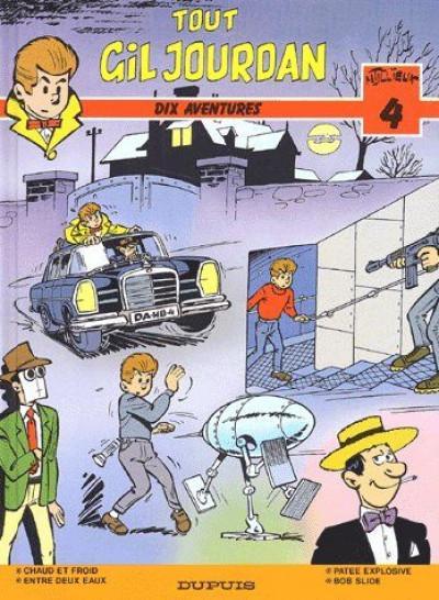 Couverture gil jourdan - ancienne intégrale tome 4 - dix aventures