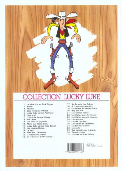 Dos Lucky Luke tome 4 - sous le ciel de l'ouest