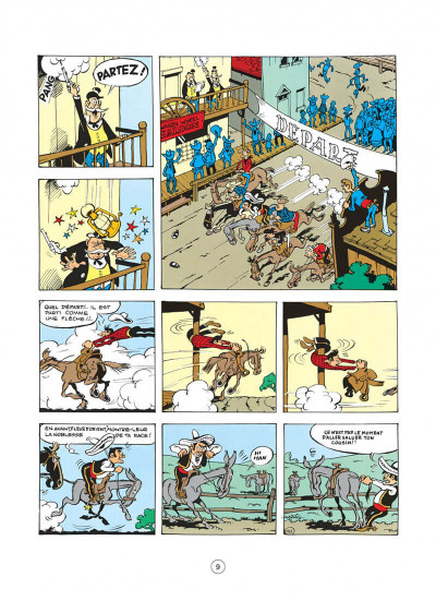 Page 9 Lucky Luke tome 4 - sous le ciel de l'ouest