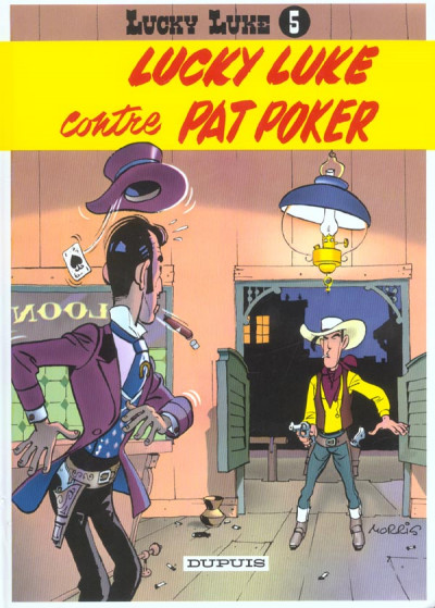 Couverture lucky luke tome 5 - contre pat poker