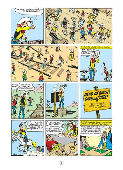 Page 9 lucky luke tome 9 - des rails sur la prairie