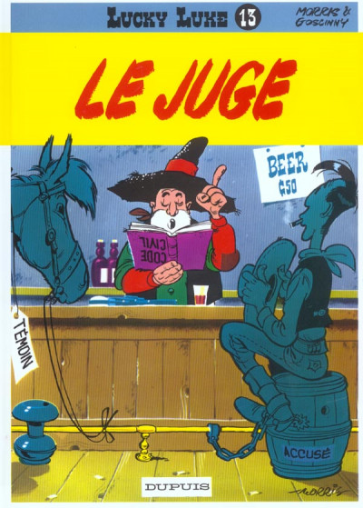 Couverture lucky luke tome 13 - le juge
