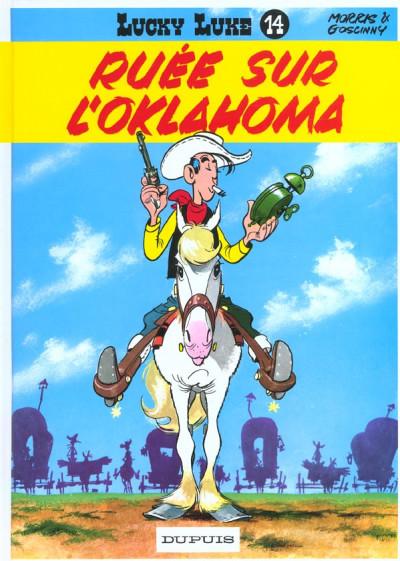 Couverture lucky luke tome 14 - ruée sur l'oklahoma