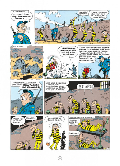 Page 1 Lucky Luke tome 15 - l'évasion des Dalton