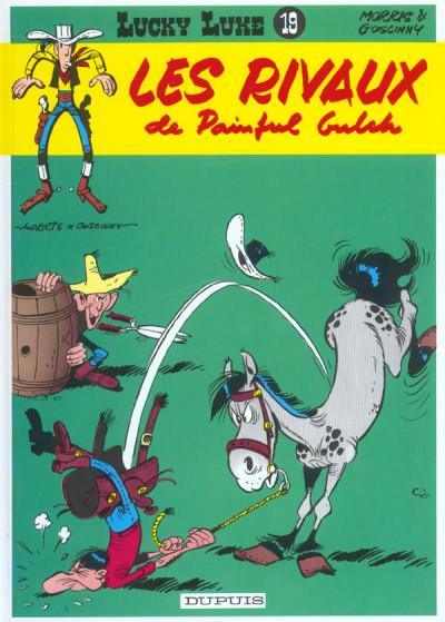 Couverture lucky luke tome 19 - les rivaux de painful gulch
