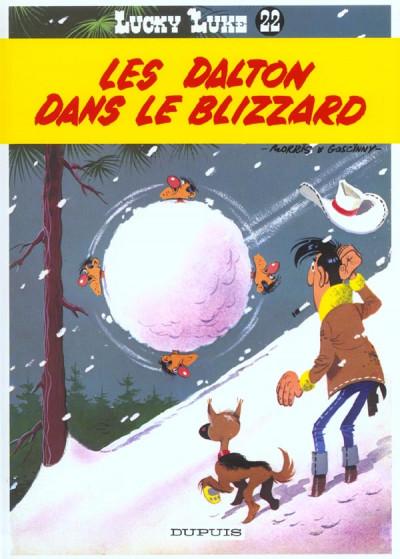 Couverture lucky luke tome 22 - les dalton dans le blizzard