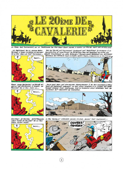 Page 3 lucky luke tome 27 - le 20ème de cavalerie