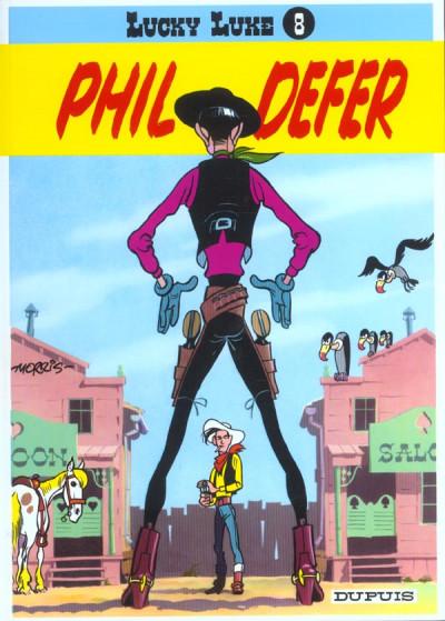 Couverture lucky luke tome 8 - phil defer